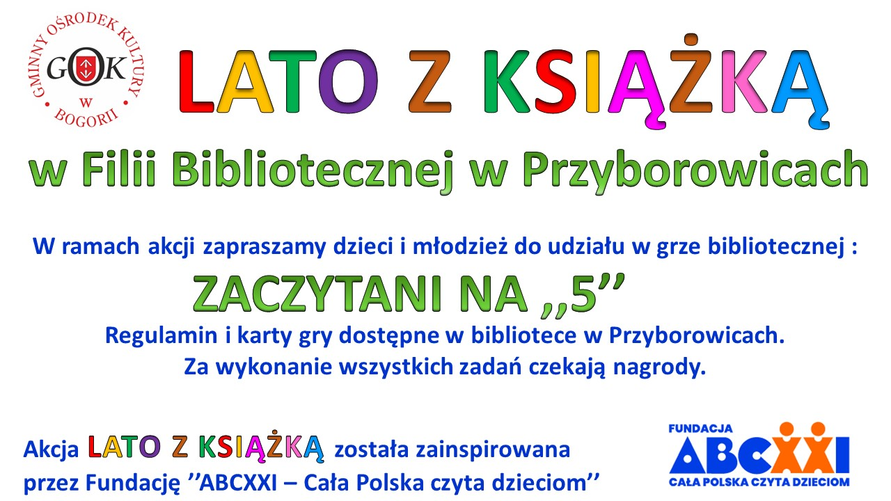 Lato z książką - Filia Bibioteczna w Przyborowicach