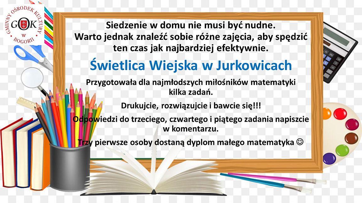 Matematyka - Świetlica Jurkowice - 01.04.2020 r.