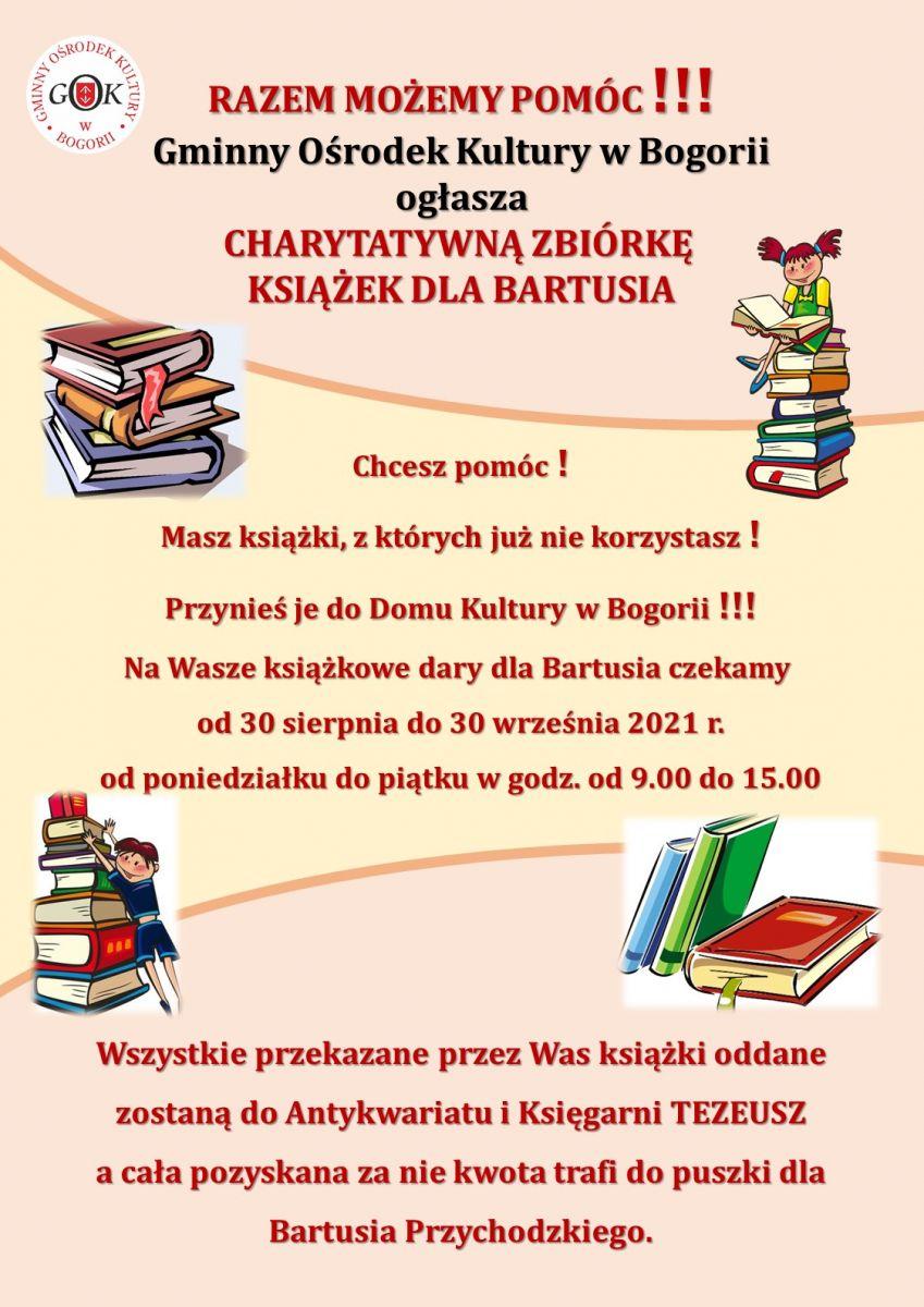 Charytatywna zbiórka książek dla Bartusia