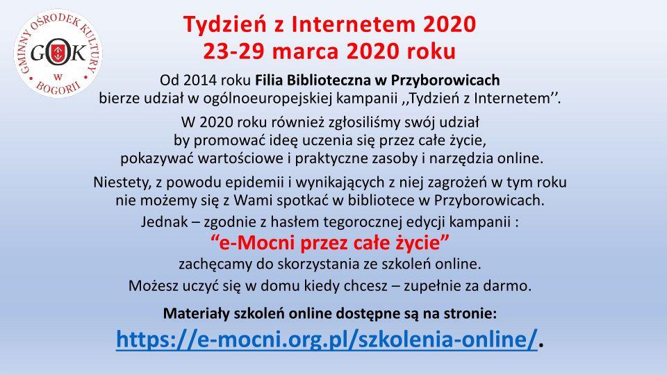 Tydzień z internetem 2020