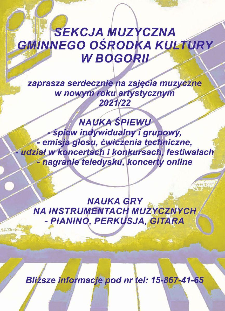 Zajęcia sekcja muzyczna - 2021/22